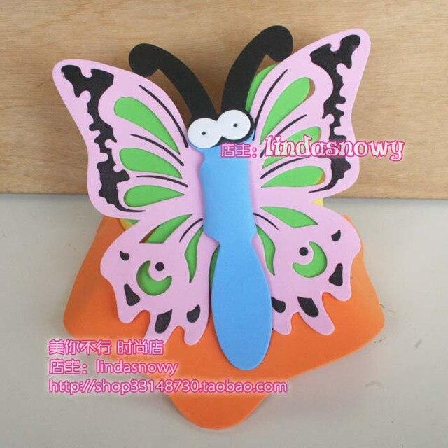Kindergarten toy animal style hair accessory animal hat child butterfly hat hair accessory