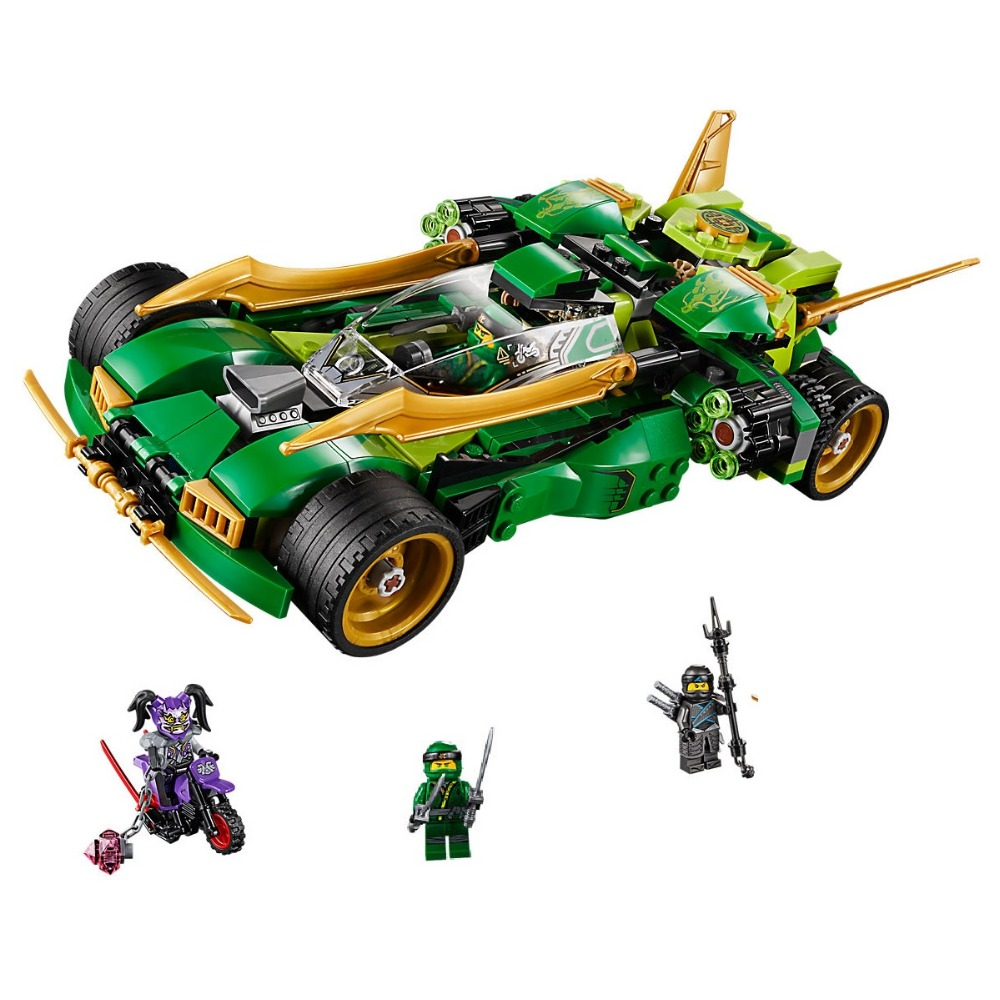 Compatible Legoe Ninjagoe 70641 618PCS Building Blocks toys for Childrens Bricks Model Kid Gift Ninja Nightcrawler