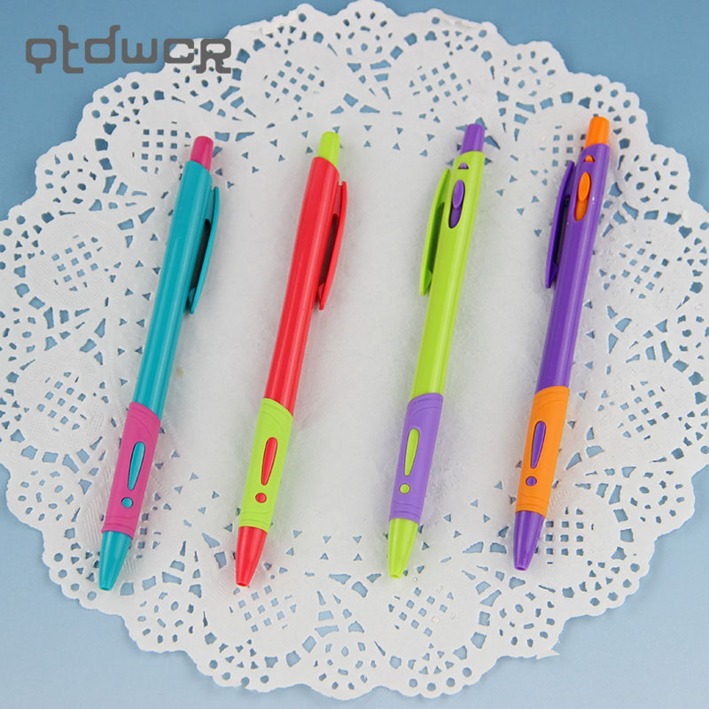 4PCS Creative Advertising Pens Simple Exclamation Plastic BallPoint Pen Next Jump Best Stationery Supplies