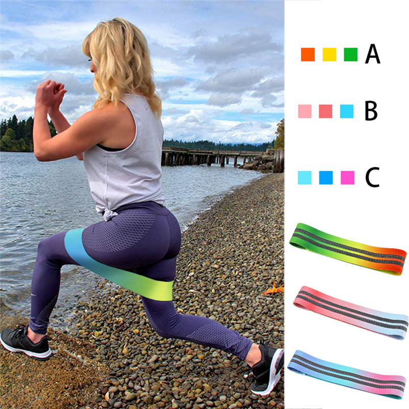 Resistance Bands Symbol Of The Brand Unisex Booty Band Hip Circle Loop Resistance Band Workout Exercise For Legs Thigh Glute Butt Squat Non-slip Bands Be Friendly In Use Fitness Equipments