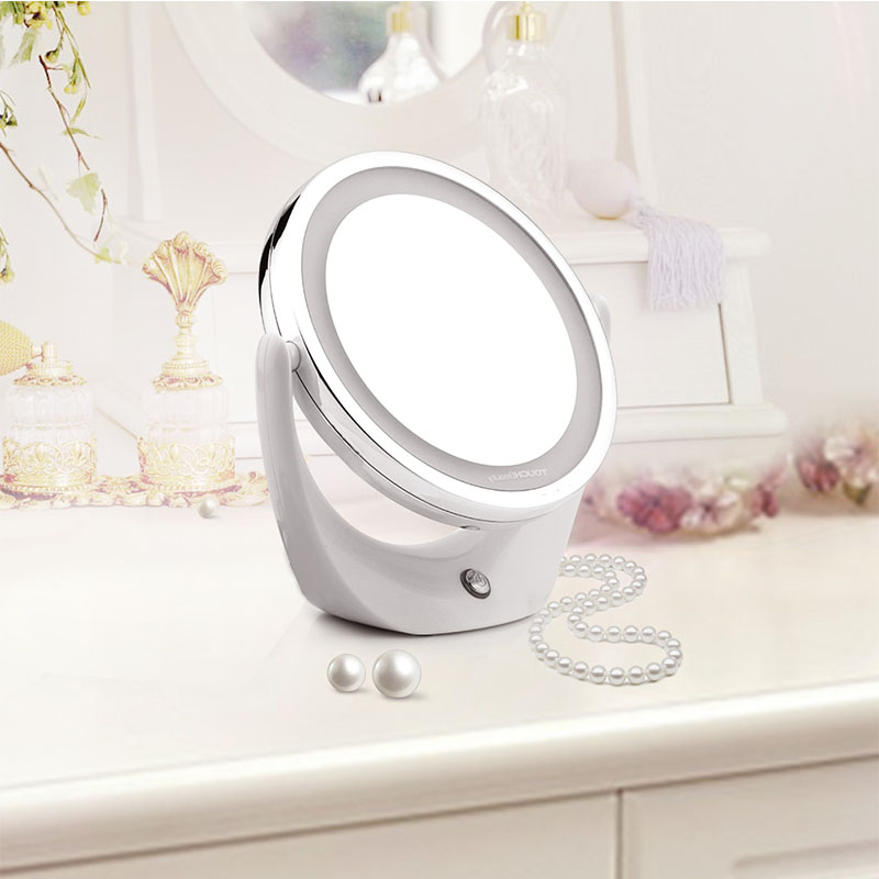 TOUCHBeauty Led Light Cosmeticaspiegel Dual-side 1X en 5X, 360 - Huidverzorgingstools - Foto 3