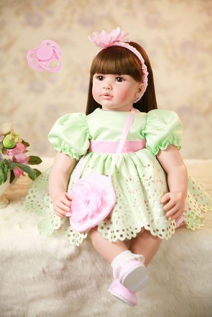 60cm Silicone Reborn Baby Doll Toys Vinyl