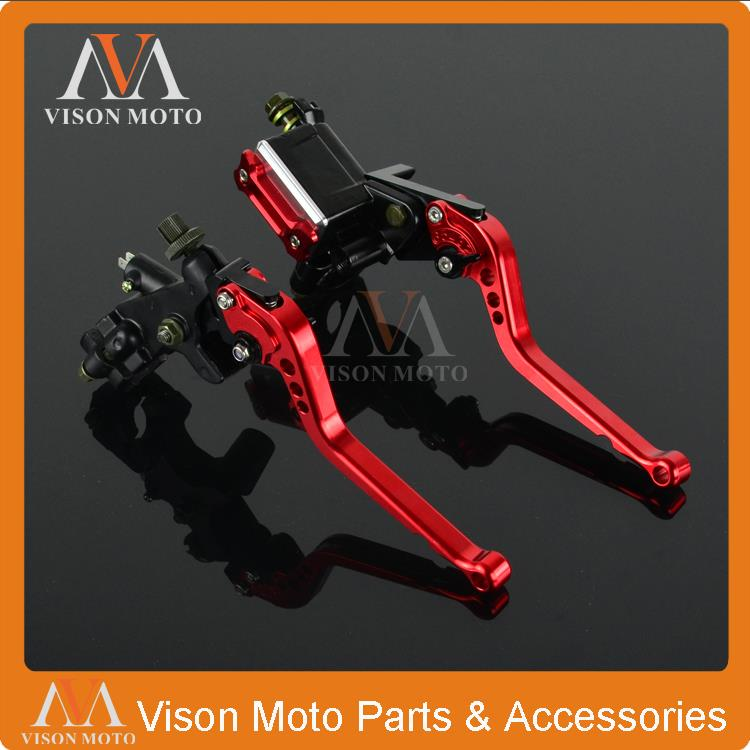 CNC Brake Lever Master Cylinder + Cable Clutch Perch For Honda CBR250R CB300F CBR300R CB400 CBR400 CB500 motorcycle 7/8