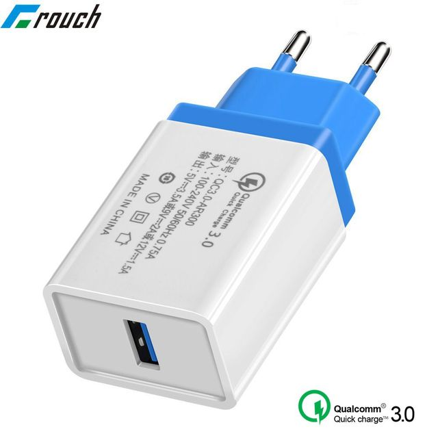 more photos 98250 fd0d1 US $0.59 40% OFF|USB Charger Quick charge 3.0 for apple iphone 7 8 6 6s x  ipad EU Power Adapter Charging for Samsung s8 s9 huawei Phone Charger-in ...