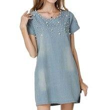 Sundress Women's Denim Dress vestidos feminina Jeans Dresses Plus Size