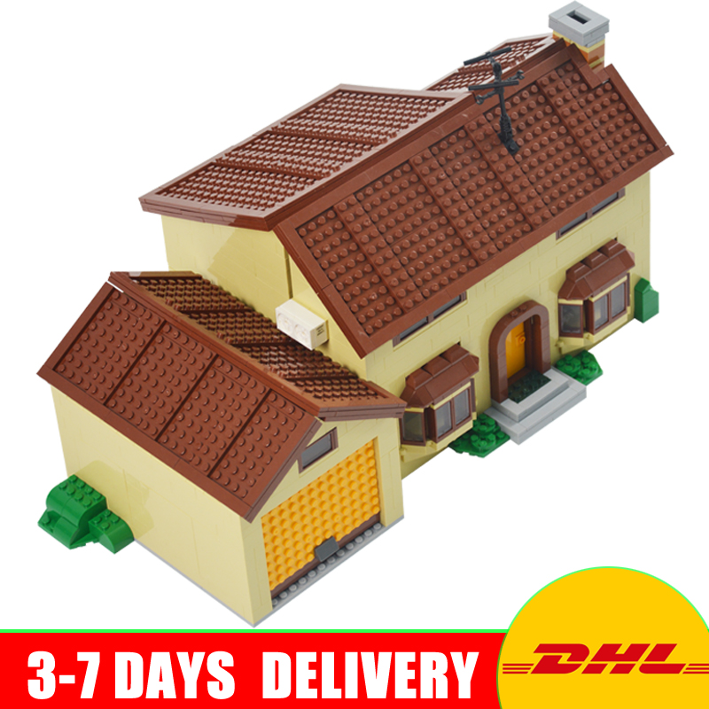 DHL Free 2018 Lepin 16005 Simpson's family Kwik-E-Mart Building Blocks Bricks Set Assembled Toys Clone 71006 In Stock 2018 moc dhl lepin 16005 simpson s family kwik e mart building blocks bricks set assembled toys gifts clone 71006