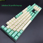 Mint Jukebox SA Profile keycap Set Top Print PBT keycaps For Cherry MX Switch Keyboard DIY Mechanical Keyboard Keycap