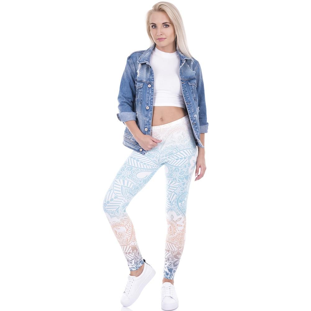 Brand Hot Sales Leggings Mandala Mint Print Fitness -4909