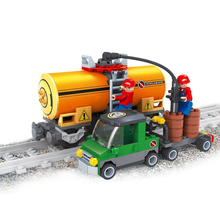 Compatible with legoings city 25414 Model building kits train 3D blocks Educational model