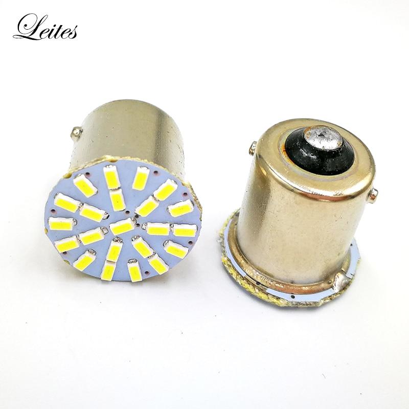 500Pcs BA15S 1156 P21W 3014 22SMD LED Bulbs Used for Back Up Reverse Light Brake Lights