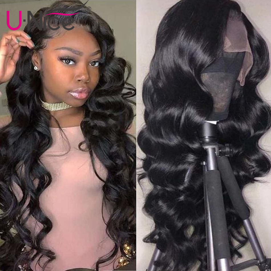 Unice Hair Lace Frontal Wigs Brazilian Body Wave long Lace Front Human Hair Wigs Pre Plucked