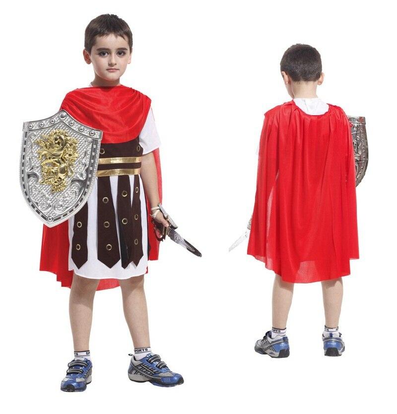 ᗜ LjഃNueva Antigua Roma trajes niños Cosplay traje romano Guerrero ...