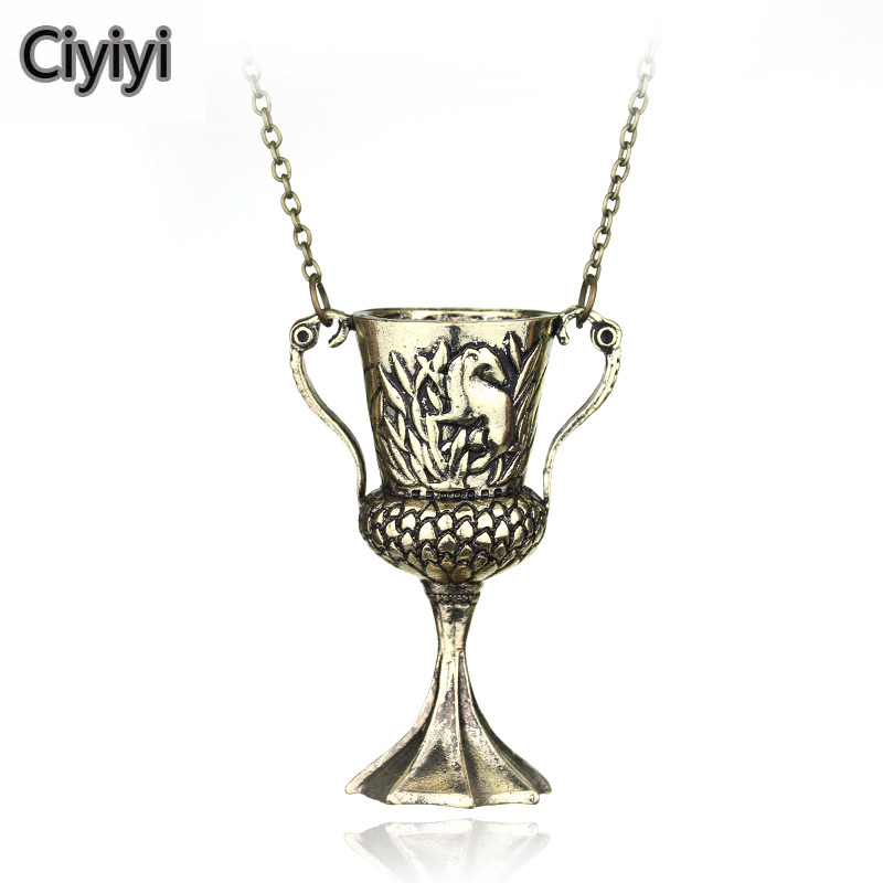 Harri Potter Hufflepuff Cup Cosplay Toy Halloween Party Show Jewelry Decoration Jouet Hogwarts School Magic Toys Student Gift