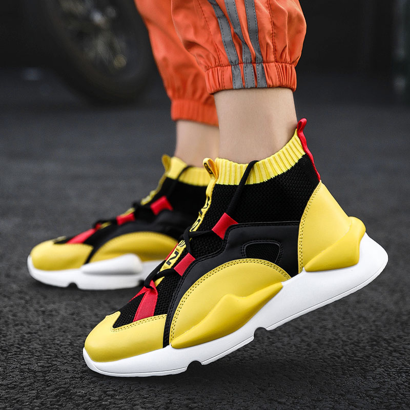 VG22 FC High Top Brand Men Casual Shoes Fashion Yellow Products Breathable Stretch Sock Shoes MenVG22 FC High Top Brand Men Casual Shoes Fashion Yellow Products Breathable Stretch Sock Shoes Men