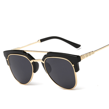Laura de Hadas Alivio Retro UV400 gafas de Sol de Los Hombres Clásico Diseñador de la Marca Gafas de Sol Unisex Medio Marco gafas de sol mujer marca 2017