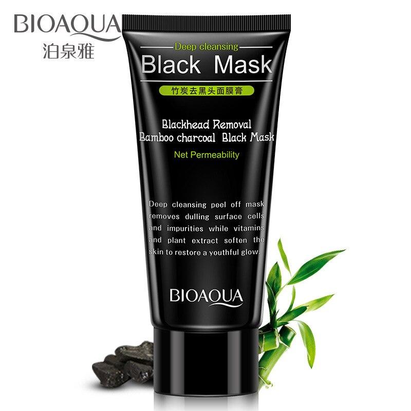 BIOAQUA mascarilla para eliminar espinillas, carbón de bambú, control de aceite, limpieza profunda de la nariz, reducción de poros, tratamiento del acné Tratamientos y mascarillas  - AliExpress