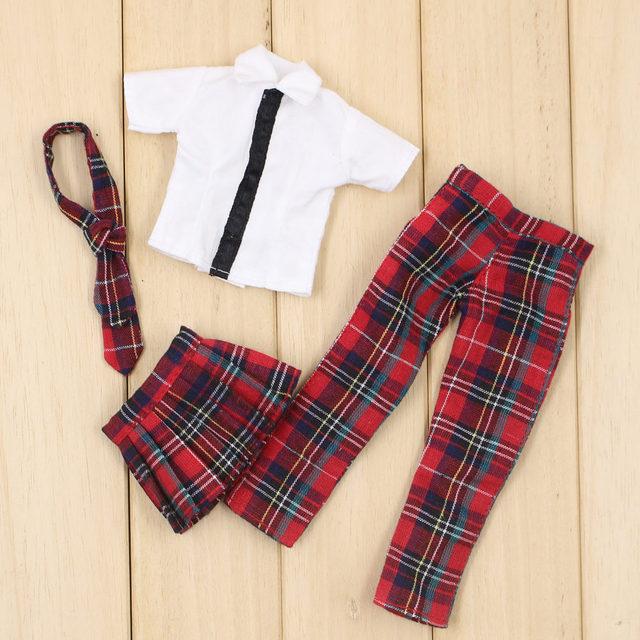 Neo Blythe Doll Red Plaid Uniform
