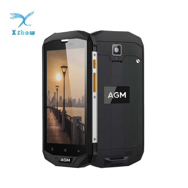 New Original AGM A8 Android 7.0 5.0 inch Rugged Smartphone 3GB RAM 32GB ROM 13.0MP IP68 Waterproof 4050mAh OTG NFC Mobile Phone