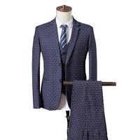 Men 3 Piece Set Business Banquet Men Suit Jacket + Pant + Vest Asia Size S 4XL Mens Suits , There Are Jackets for Sale