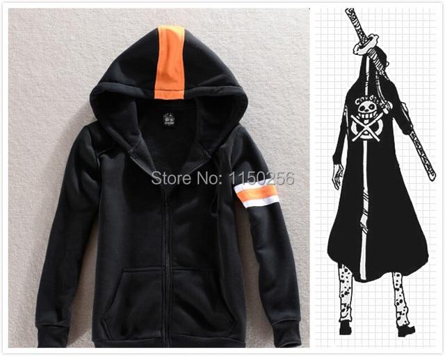 Anime One Piece Cosplay Costume Trafalgar Law Halloween Costume Cotton Cool Coat/Clock/Jacket New Free Shipping+Drop Shipping