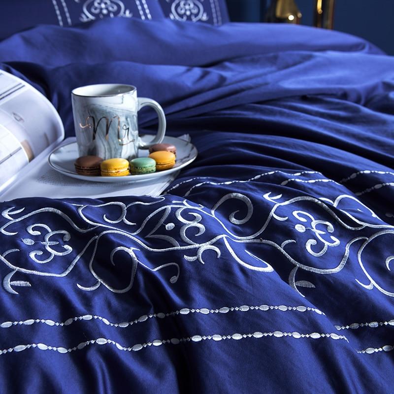 (9)  White silver cotton imitate silk luxurious Bedding Set queen king measurement mattress set Bedsheets linen Europe embroidery Quilt cowl set HTB16R8qpf9TBuNjy0Fcq6zeiFXal