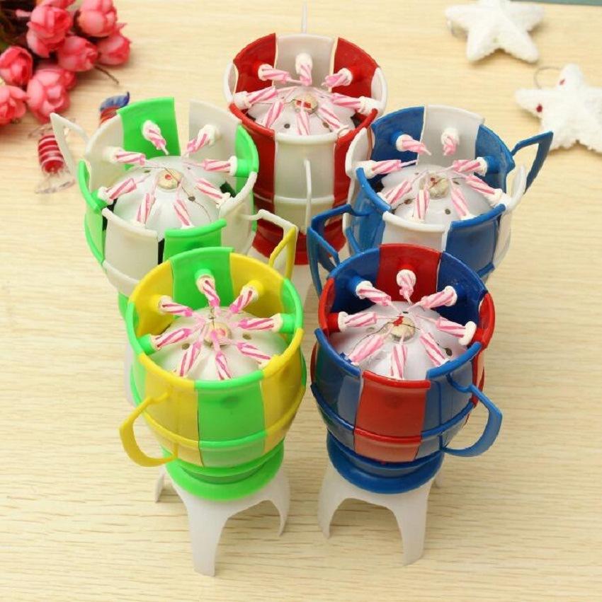 vela de cumpleaos musical taza de ftbol llama happy birthday cake accesorios partido luces decoracin