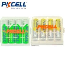 4PCS AA Rechargeable Battery 1.2V Ni MH 2200mAh Batteries + 4PCS AAA 1000mAh Rechargeable Batteries With 2Pcs Battery Case Boxes