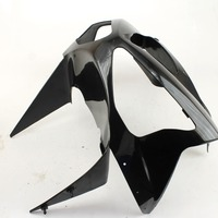 Unpainted White Black Motorcycle Front Cowl Nose Fairing for Kawasaki Ninja ZX6R 2003 2004 03 04 Replacement Part