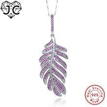 Женское винтажное ожерелье jc с перьями рубиново белый топаз