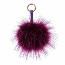 15cm Fluffy Raccoon Fur Ball Keychain Pom Pom Key Chains Bag Car Ornaments Pendant Key Rings Llaveros Mujer Chaveiro Carro