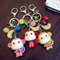 Az little monkey keychain acrylic jelly cartoon doll bag car hangings