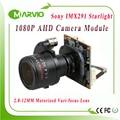 "1080P 2.1MP Startlight AHD-H 2.8-12mm Motorized Zoom Auto Focal Lens 1/2.8"" Sony IMX291 Sensor AHD CCTV Camera module board"