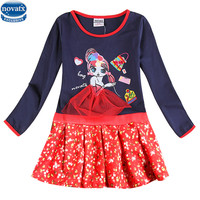 2 8y Girls Party Dresses Nova Kids Wear Hot Selling Children S Clothing Long Sleeve Fashion