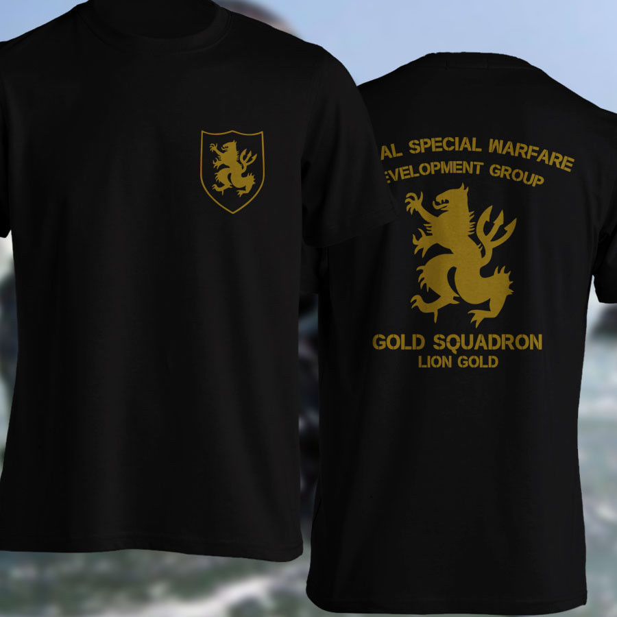 US $13 49 10% OFF|Gold Squadron US Army Special Force Lion Gold NSWDG  Devgru Seal Team Six T shirt Casual Short Slove-in T-Shirts from Men's  Clothing
