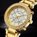 Relojes Mujer 2016 Luxury Brand KINGSKY Watches Women Crystal Rhinesone Quartz Watch Fashion Ladies Bracelet Wristwatch Clock