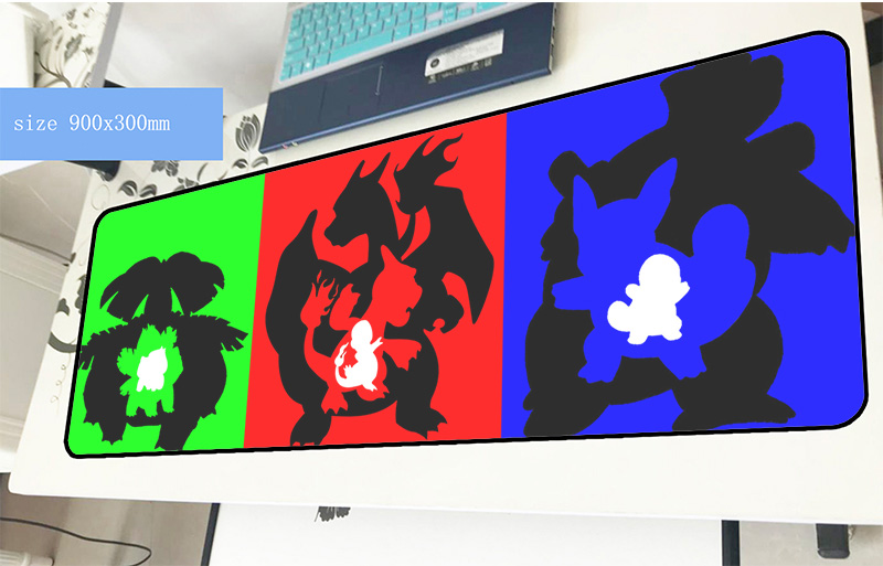pokemons mousepad 900x300x4mm New arrival gaming mouse pad gamer mat thick game computer desk padmouse keyboard large play mats все цены