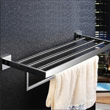 Нержавеющая сталь 304 ванной вешалка для полотенец двойной полотенце полка ванной полотенце держатель полки chorm ванная комната аппаратных 60 см