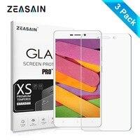 3 pacote original zeasain protetor de tela do filme de vidro temperado para xiaomi redmi 3 3x3 s 3pro redmi3 redmi3s redmi3pro x s pro filme