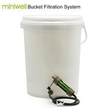 Miniwell personale camping filtro acqua di paglia per emergenza e kit di sopravvivenza