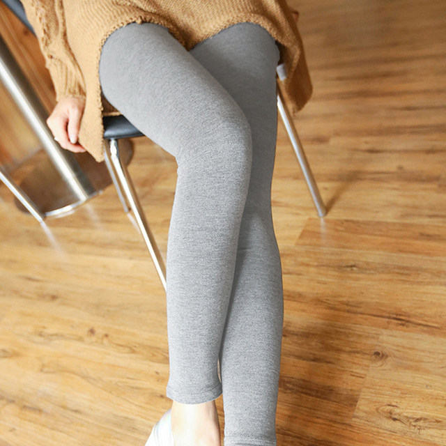 1PC Women Fashion Simple Solid Leggings Women Stretchy Cotton Skinny Leggings Sexy Colorful High Waist Legging Clothes Accessory 14