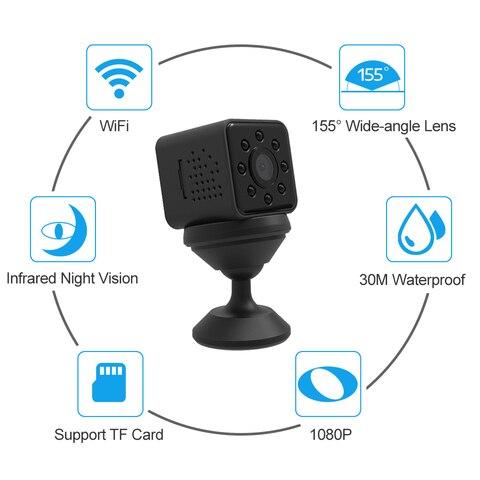 SQ23 Mini Camera Wifi Full HD 1080P Wide Angle Micro Camera Wifi Waterproof Night Vision Mini Camcorders Video Recorder Pk SQ13  Lahore