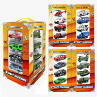 16PCS Children Senior Gift Diecasts Alloy Model Car Army City Boy Dinky Toy Hot Wheels Cars