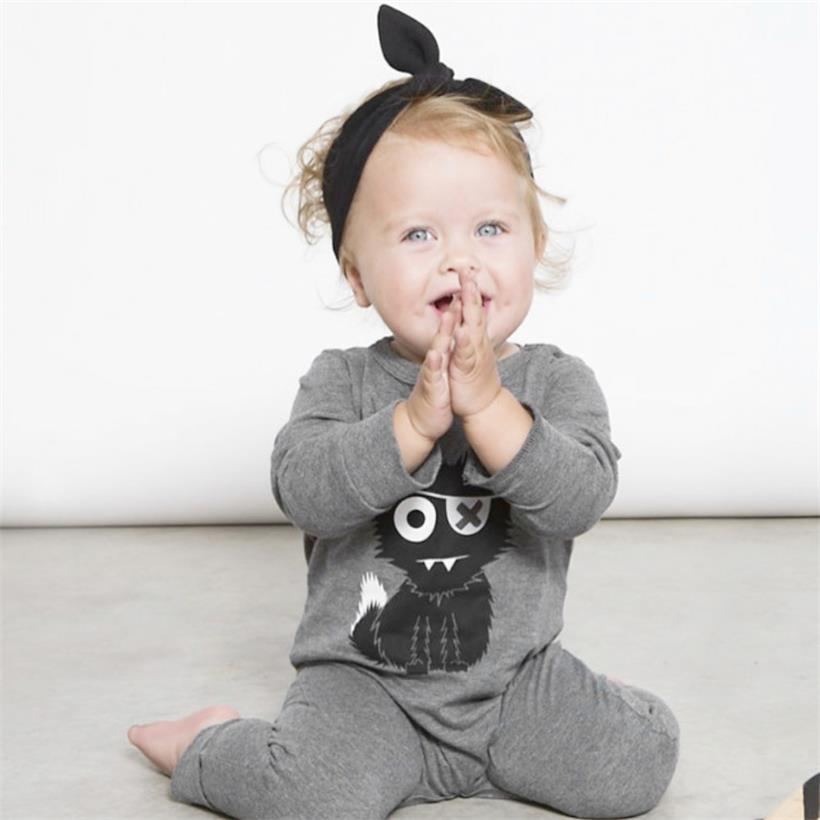 TANGUOANT Hot Sale Cartoon Baby Boy Clothes Long Sleeve Baby Rompers Newborn Cotton Baby Girl Clothing