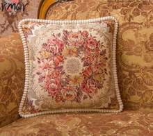NEW High Quality Luxury Style jacquard Home Decorative Cushion Covers Housse Coussin Euro Pillow Cover 50*50cm цены