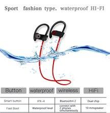 Bluetooth Earphone red fone de ouvido sem fio Auriculares Wireless Ear Hook Sport Universal Waterproof Phones true
