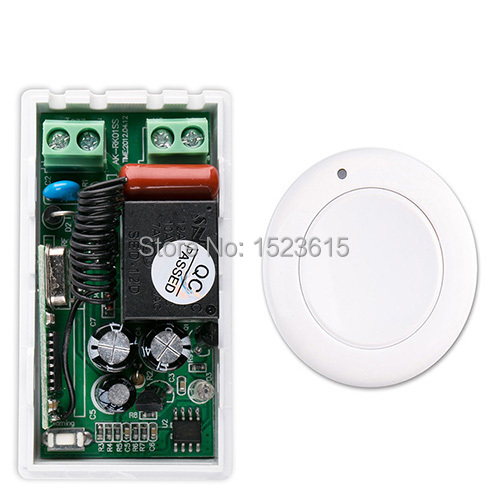 most simple wiring new ac 220 v 1ch wireless remote control switch system  receiver & white