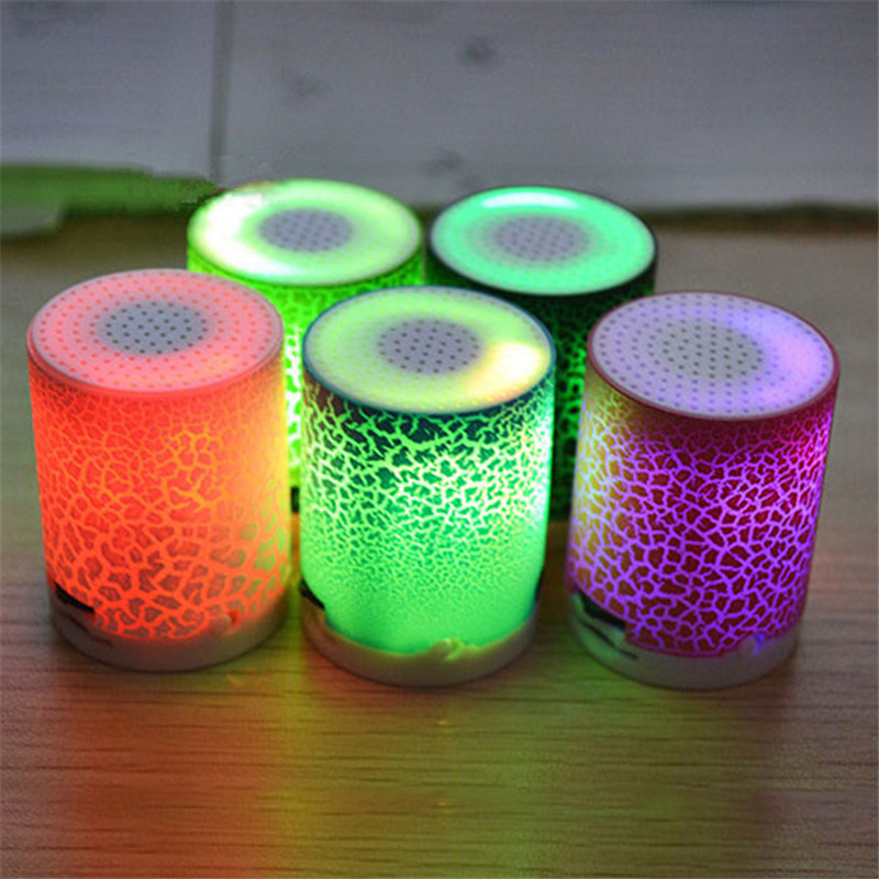 colorful mini speaker with led light portable enceinte loudspeakers music player support tf card. Black Bedroom Furniture Sets. Home Design Ideas