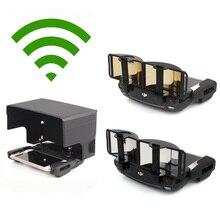 Amplificador de Reforço de sinal de Antena Range Extender + Smartphone Toldo Sun Hood para DJI MAVIC PRO/Air & SPARK Remoto controlador