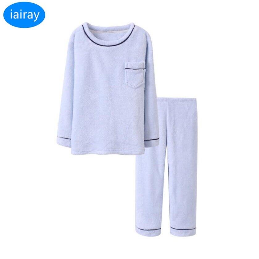4f0dcd70a iairay 2pcs boys winter thermal flannel pajama set thick sleepwear ...