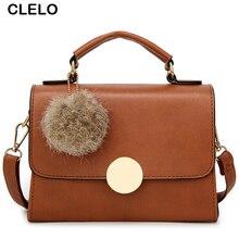 CLELO Designer Bags Women Leather Handbags Solid Shoulder Bag Female Mini Bags Crossbody Messenger Bag For Girls Purses Handbags